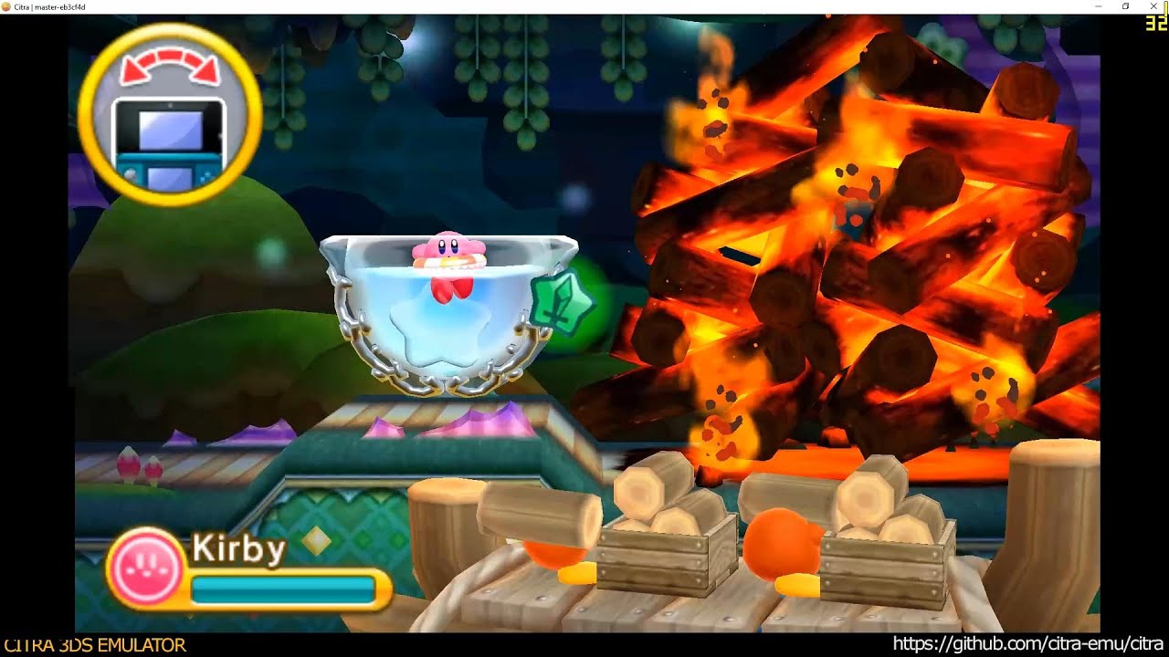 Citra 3DS Emulator - Kirby Triple Deluxe ingame 1080p TOP Only +