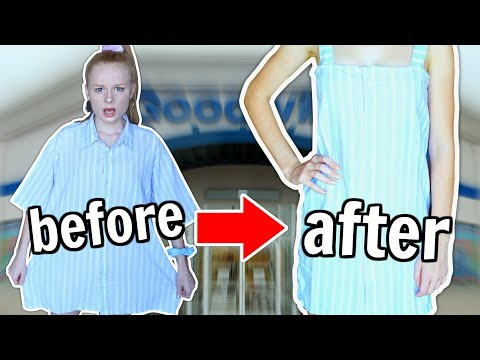 MAKING UGLY CLOTHES CUTE *thrift flip challenge* thumbnail