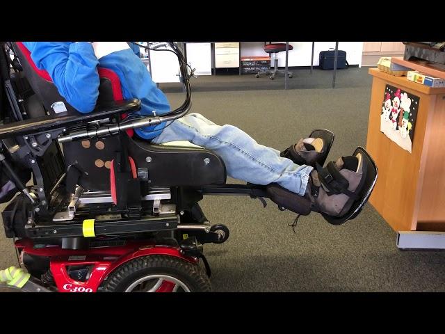 Elektrisch verstellbare Beinstützen