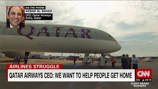 Qatar Airways CEO: We want to help people get home