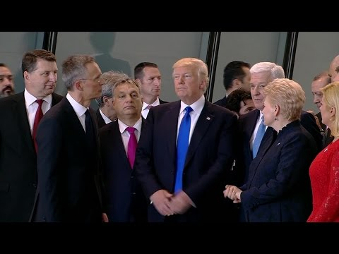 Raw Video: Trump's Push At NATO Causes Online Stir