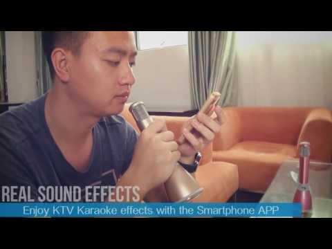 TUXUN K068   Karaoke Microphone + Speaker Bluetooth 3 0, KTV Karaoke Effects