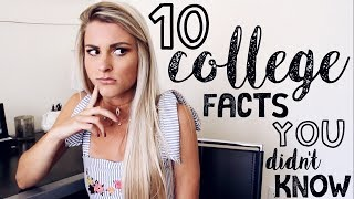 10 Things People DON'T Tell You About College | Tasha Farsaci