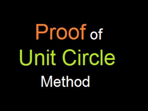 Proof of Unit circle method : Shortcut to trigonometric value table