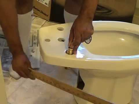American Standard Bidet Install Part 1 Youtube