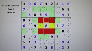 Sudoku Tutorial #7 / Locked Candidates Type II Claiming