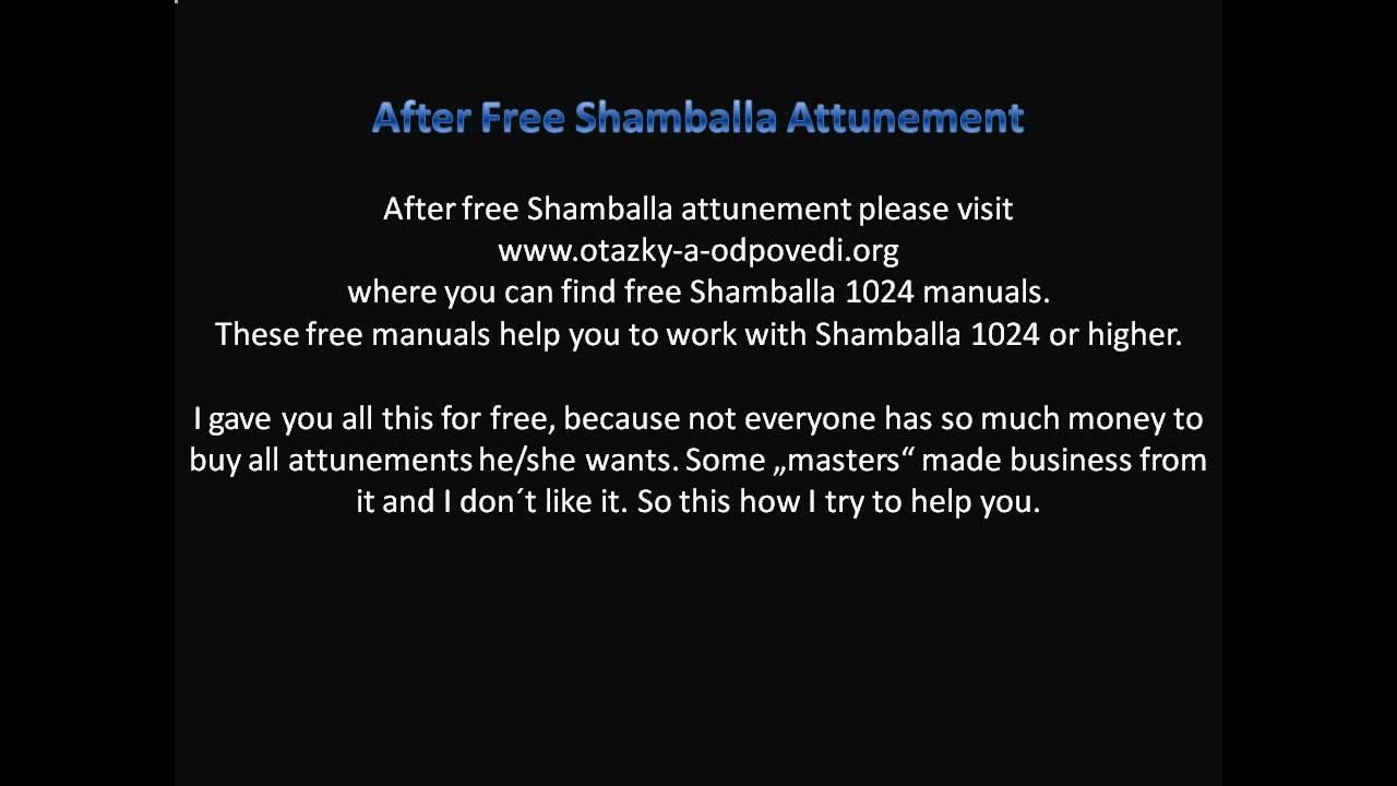 shamballa 1024 manual pdf