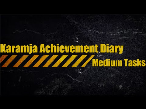 Karamja Medium Diary Guide - Fast Route | Oldschool Runescape