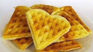Рассыпчатые Вафли кулинарный видео рецепт