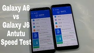 Samsung Galaxy A6 vs Galaxy J6 AnTutu Speed Test