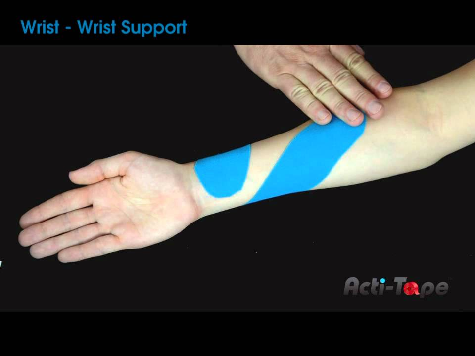 Acti-Tape - Wrist Support - YouTube