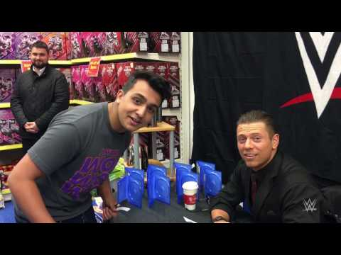 An uneasy autograph session with The Miz in Birmingham, England