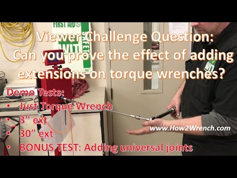 Will extensions change your torque wrench reading? Proof and the answer!