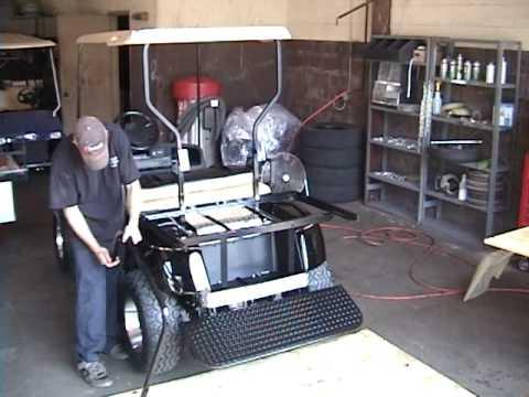 1996 Yamaha Golf Cart Wiring Diagram Golf Cart King Ezgo Txt Rear Flip Back Seat Kit