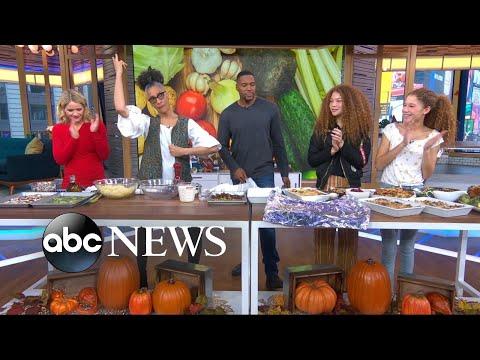 Carla Hall's amazing potato, mushroom and celery gratin Thanksgiving dish