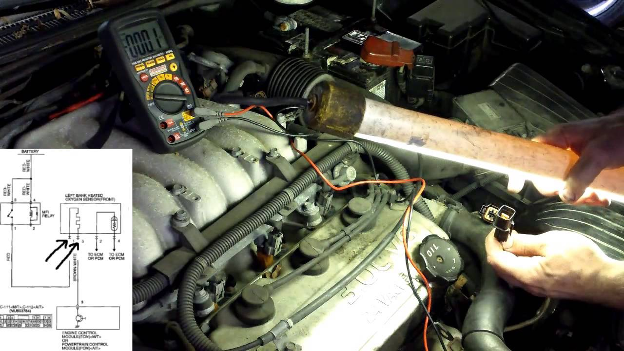small resolution of p0155 p0135 diagnosing o2 sensor heater circuit heated oxygen sensor youtube