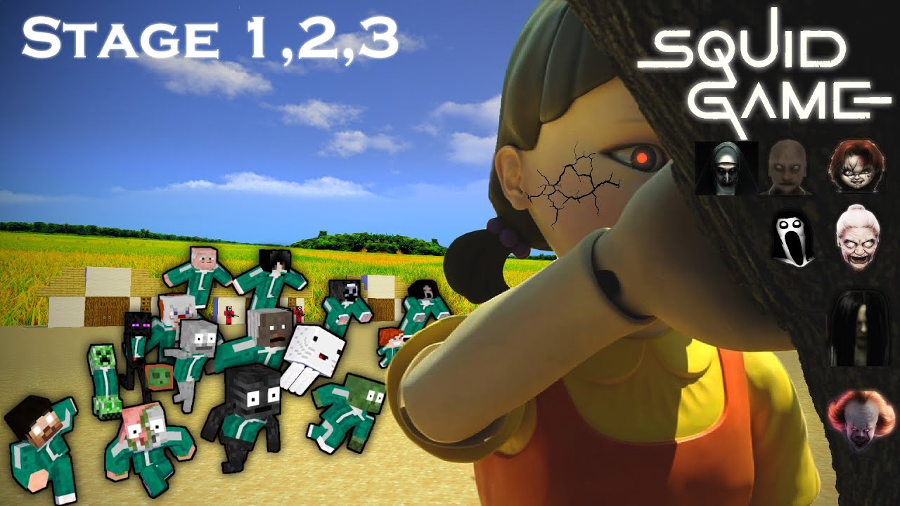 Download Monster School - SQUID GAME STAGE 1,2 And 3 (MOBS VS GHOSTS)