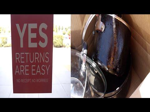 Returned  Old Cookware, No Recipt, No Worries, Kohls