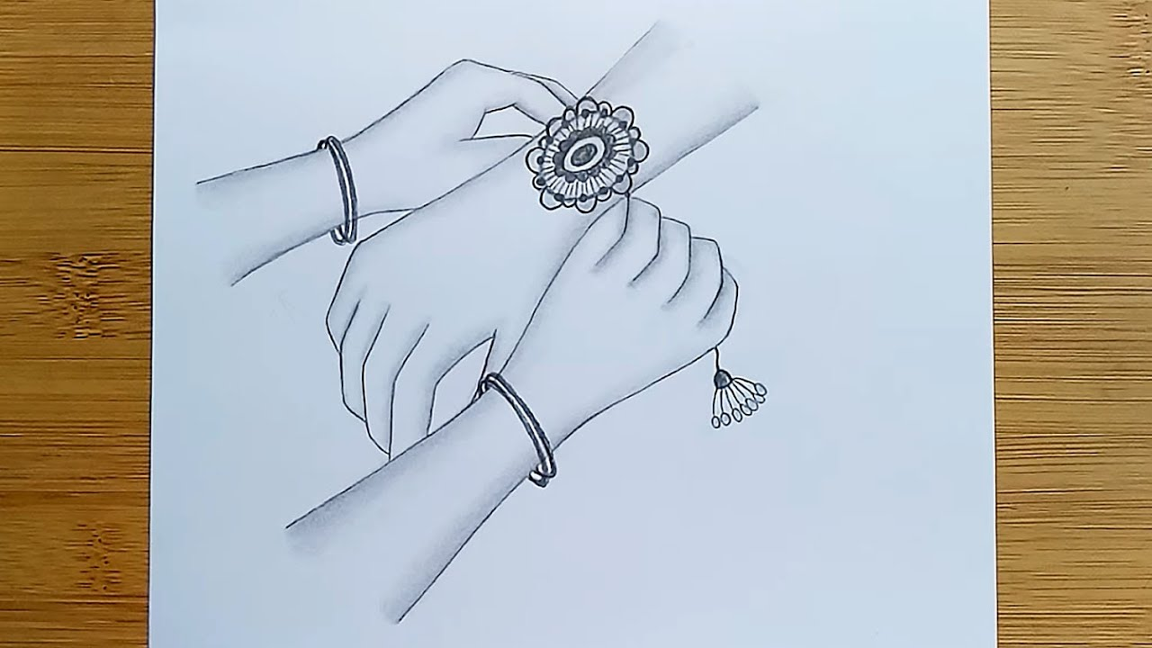 How To Draw Raksha Bandhan For Beginners With Pencil Sketch Youtube