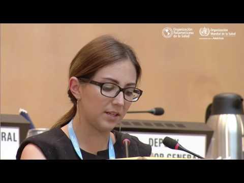 La ministra de Salud de Ecuador, Verónica Espinosa, en la 70ª Asamblea Mundial de la Salud