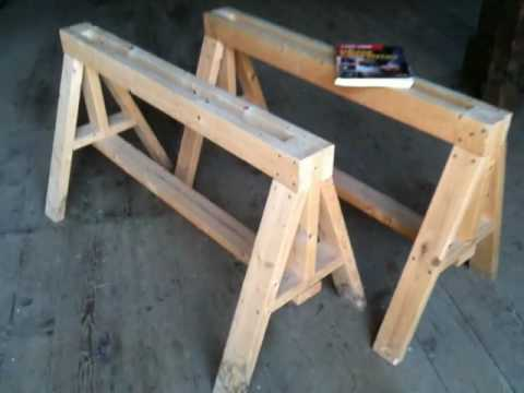 Heavy Duty Sawhorses - Easy to build - YouTube