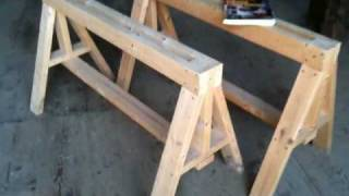Heavy Duty Sawhorses - Easy To Build