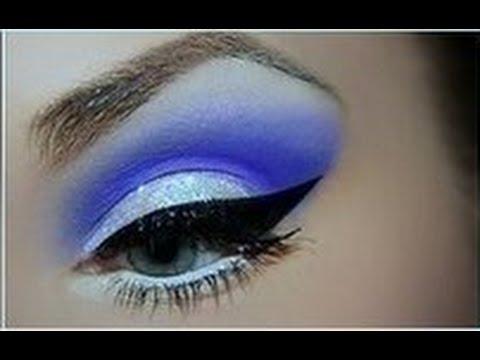 ♥Синий макияж♥Макияж со стрелками♥♥♥