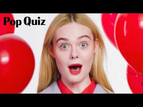 Elle Fanning | Pop Quiz | Marie Claire