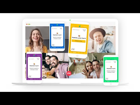 Play Social Games on Video Calls! Great fun with friends and family over video. We're Launching!