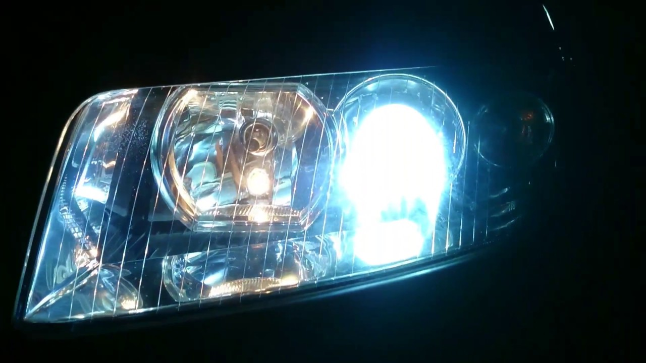 Led Headlights Install On Audi A4 B6/B7 (Comparison Led vs Halogen) - YouTube