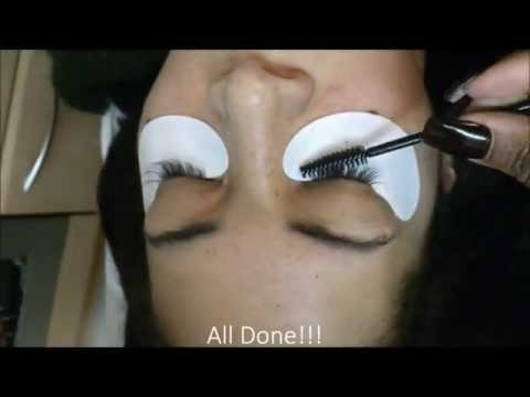 Watch me apply individual MINK eyelash extensions