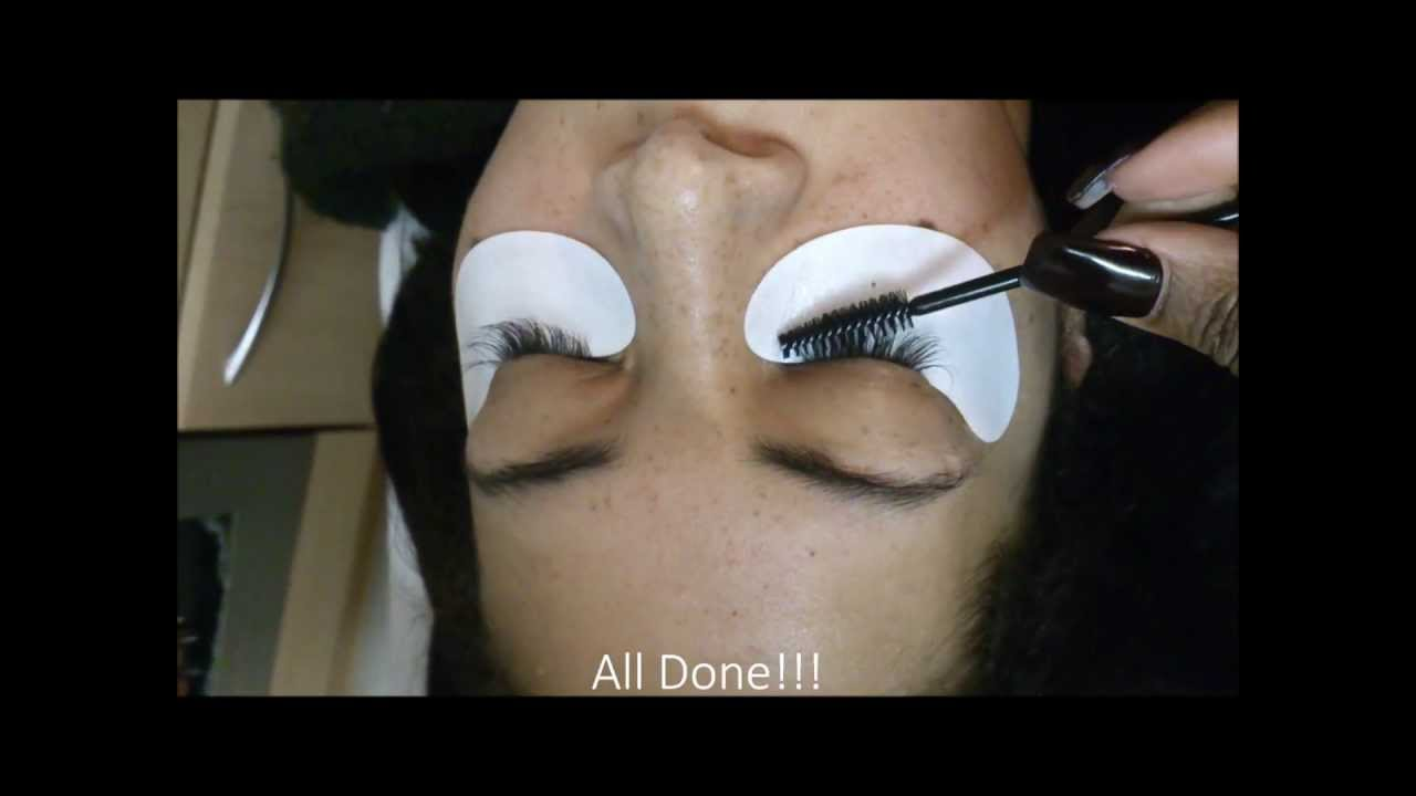 110cb7f355f Watch me apply individual MINK eyelash extensions - YouTube