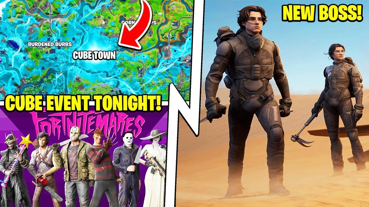 Cube Town Update TODAY, 18.21 BOSS, Fortnitemares Skins, Dune x Fortnite!