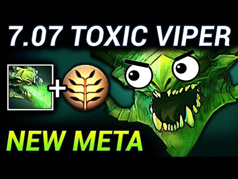 TOXIC VIPER - DOTA 2 PATCH 7.07 NEW META PRO GAMEPLAY