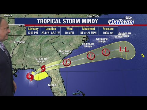 Tropical Storm Mindy & Hurricane Larry forecast