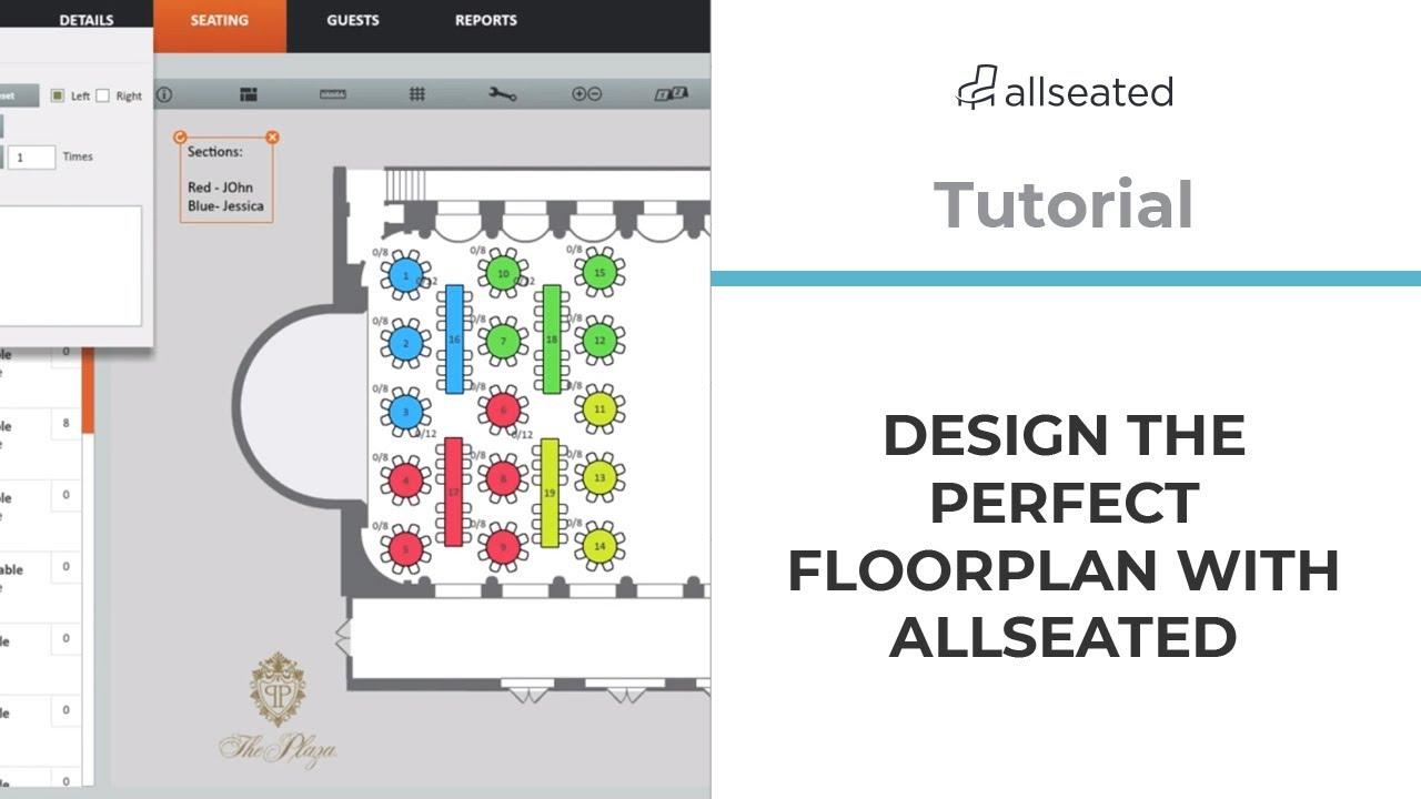 Designing The Perfect Floorplan Allseated Tutorial Youtube