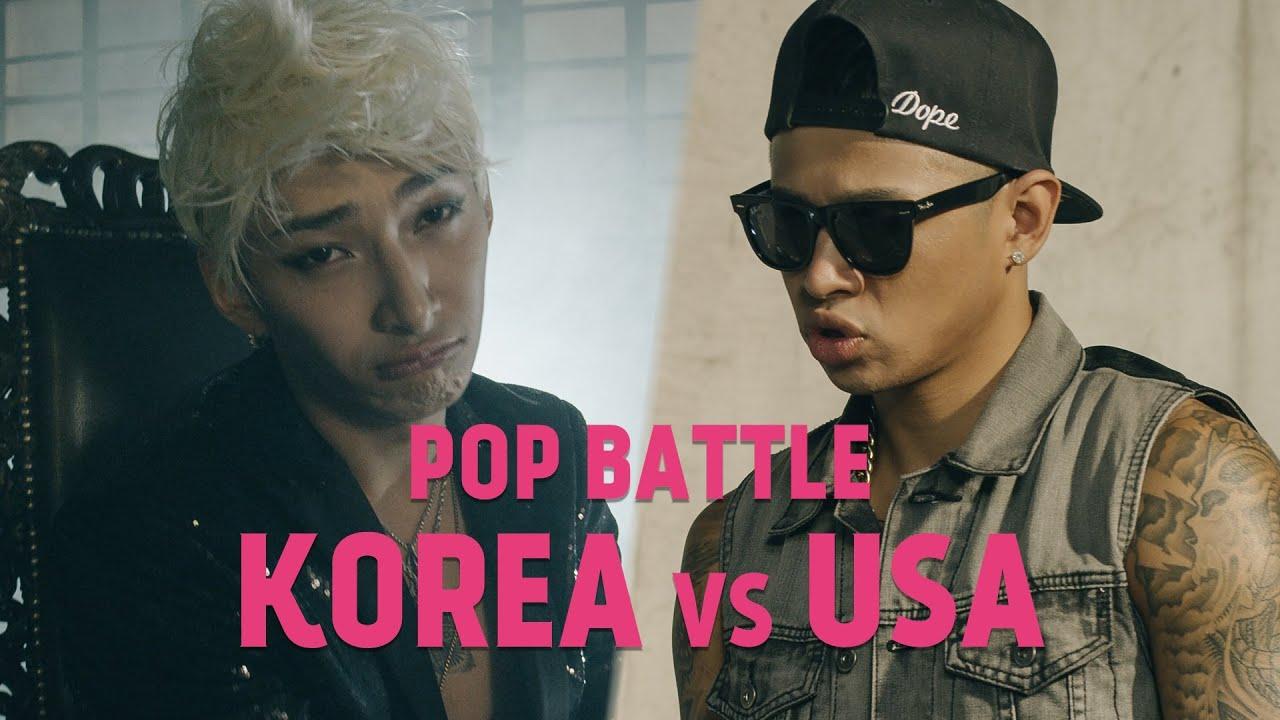 CHINESE COMEDY HIP HOP - RAP BATTLES   USA vs KOREA (feat. Asian Justin Bieber/Chris Brown)