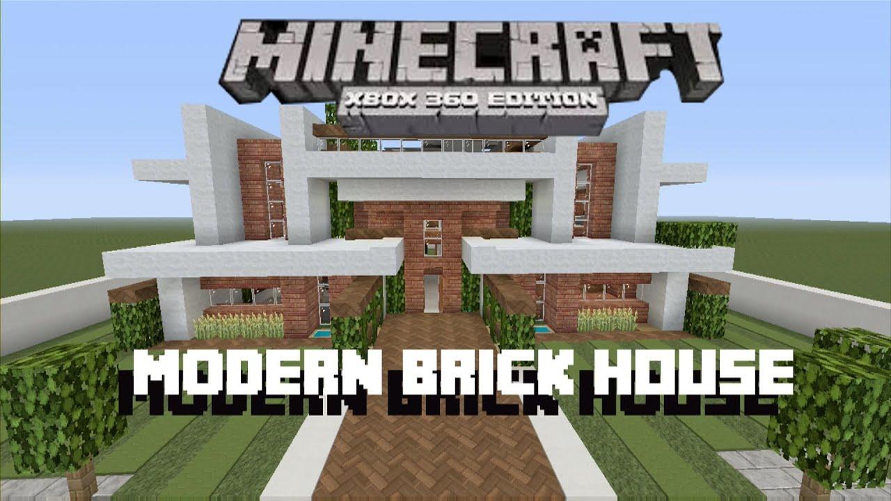 Minecraft xbox 360 modern brick house tour youtube for Office design minecraft