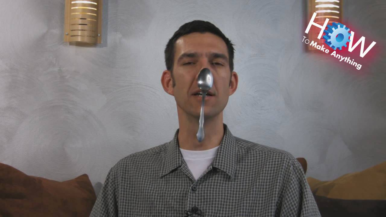How to Hang a Spoon on Your Nose - YouTube