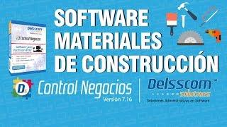 Software para Materiales de Construcción | Punto de venta | Delsscom Control Negocios 7.16