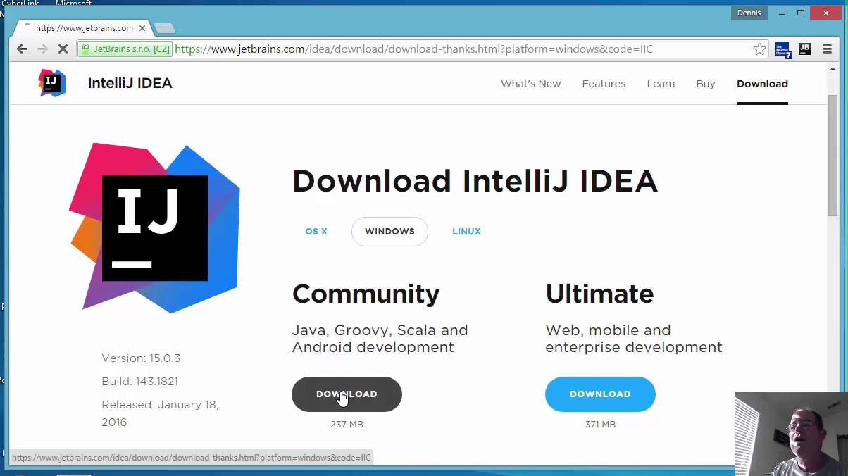 Download intelliJ IDEA Community Edition