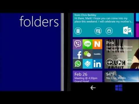 Windows  Phone 8.1 / 9.0 Concept UI