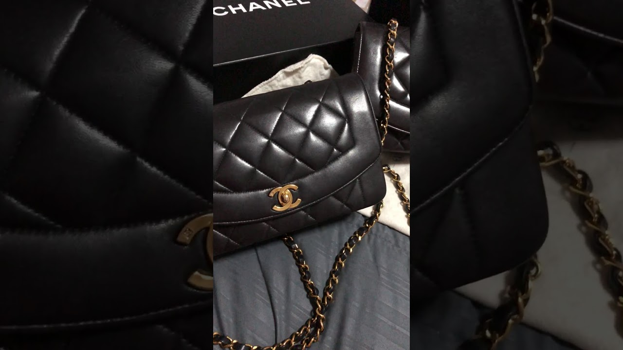 3fefa0769704 9 and 10 Inch Chanel Diana Flap Bag - YouTube