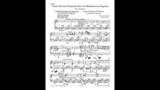 F. Liszt - Grande fantaisie de bravoure sur La clochette, S.420 (Audio + Sheet Music)