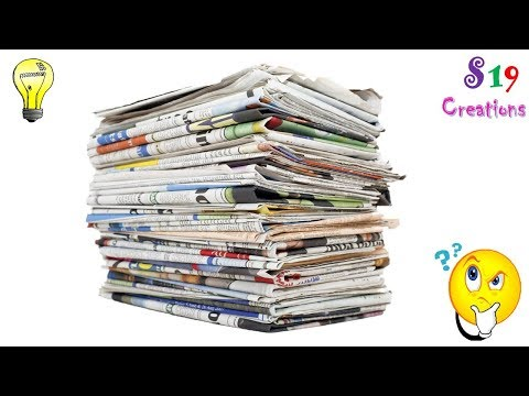 Newspaper craft ideas | best out of waste ideas | amazing diy craft idea | reuse of old newspapers