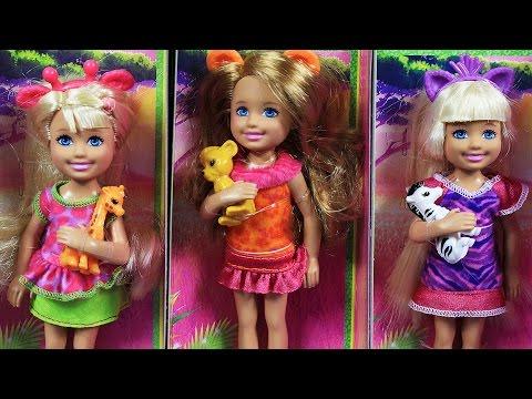 Safari Chelsea Dolls Collection / Kolekcja Lalek Chelsea na Safari - Barbie Sisters / Siostry Barbie