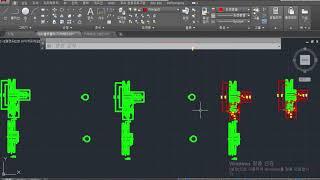 V벨트풀리 기어박스01 2D 도면작업 총집편