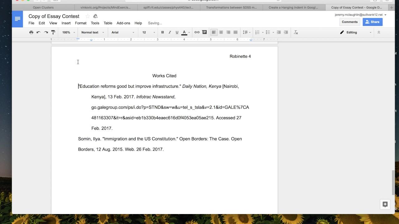 Essay indentation