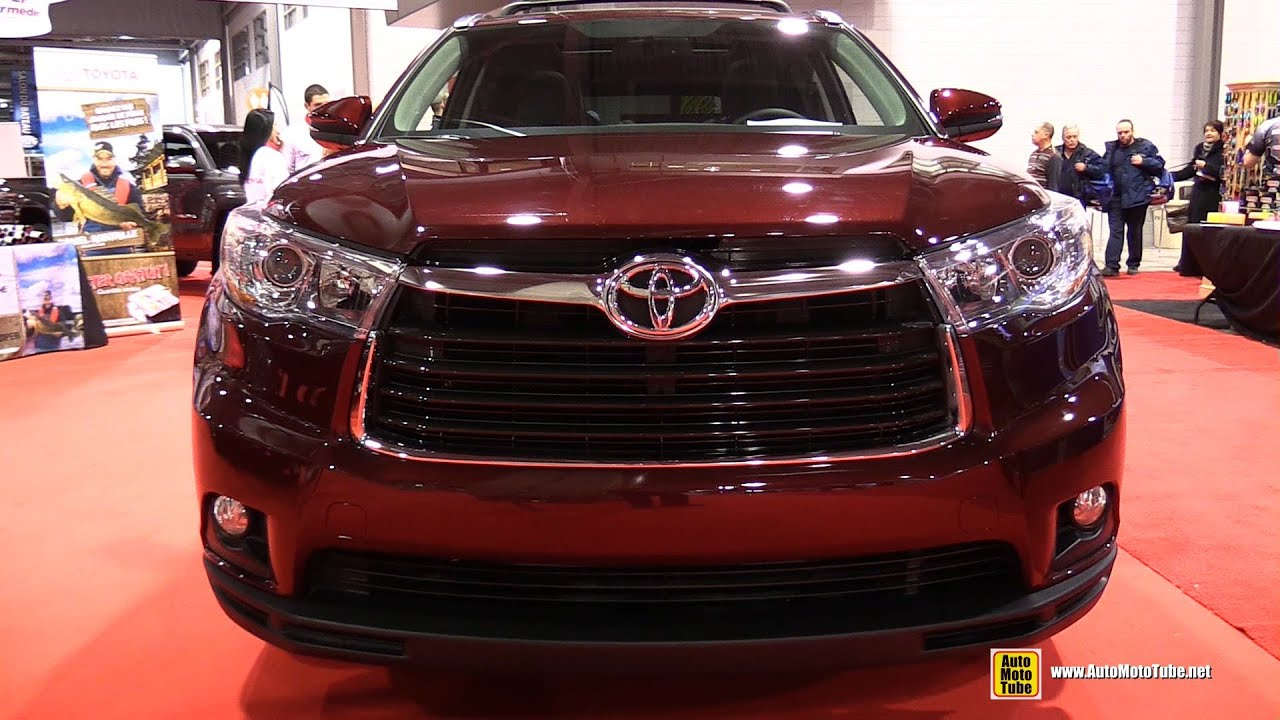 2015 Toyota Highlander Limited AWD   Exterior And Interior Walkaround   2015  Quebec Boat Show