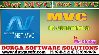 .NET MVC Tutorials || MVC - Action Result Methods by Chakri